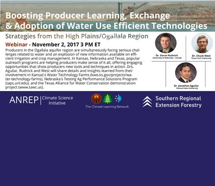 Boosting Producer Learning, Exchange and Adoption of Water Use Efficient Technologies: Strategies from the High Plains/Ogallala Region