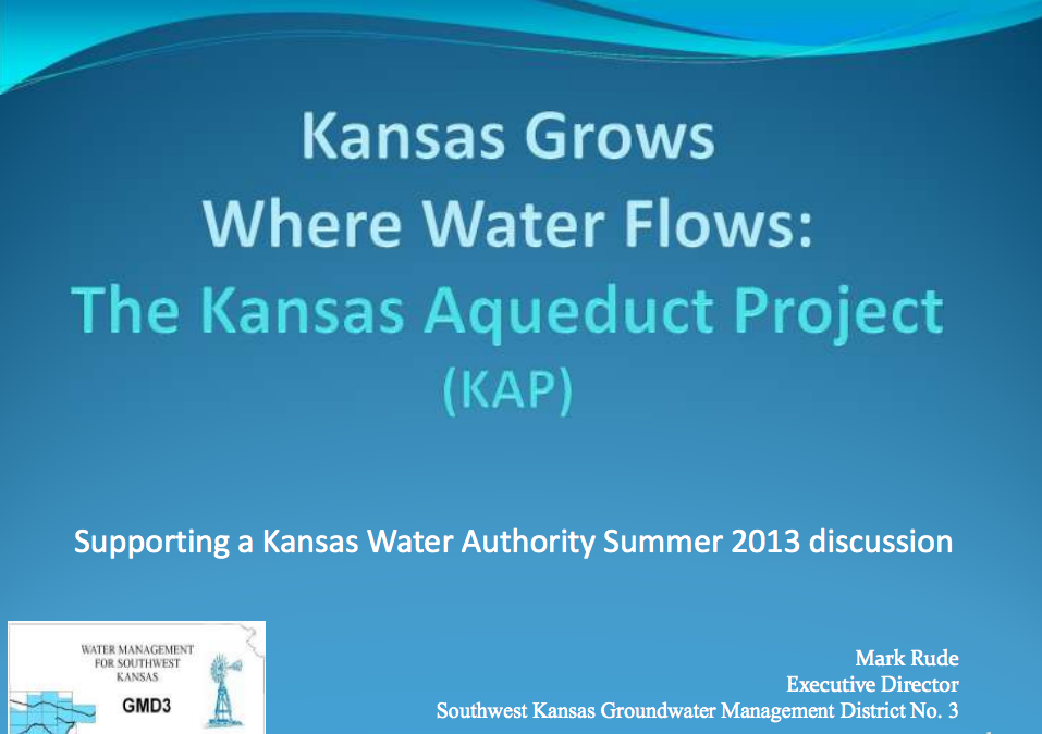 Kansas Grows Where Water Flows Presentation